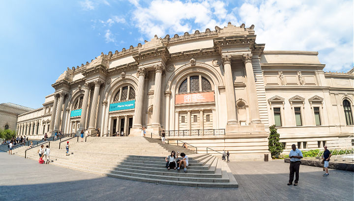 The exterior of the MET Museum in New York.