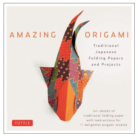 An origami book cover.