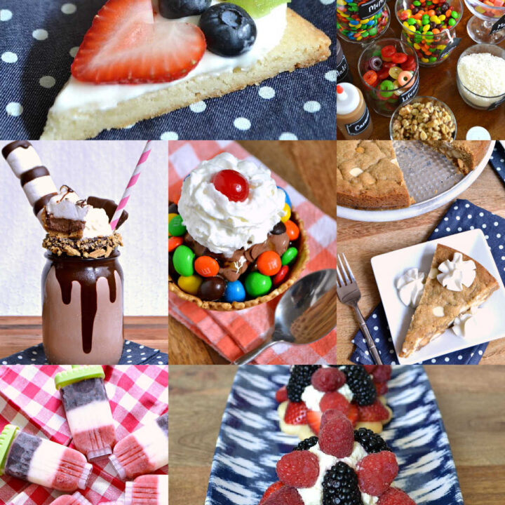 A photo collage of different Birthday Cake Alternatives.