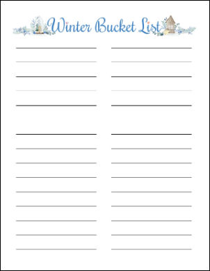 A small image of the blank printable list.
