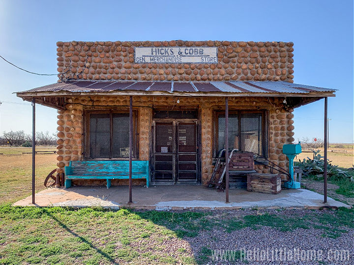 An abandoned store in Mound, a Texas ghost town.