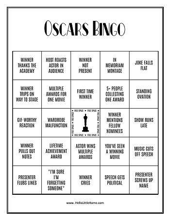 A small image of the bingo card.