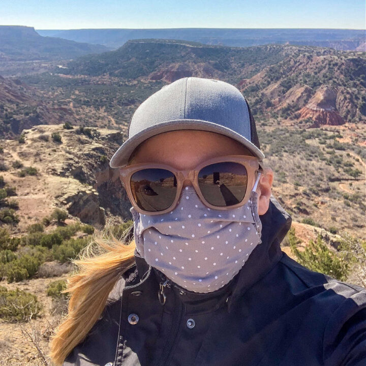 A selfie of me in front of Palo Duro Canyon.