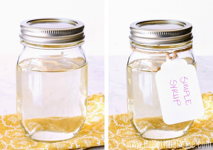 A photo collage showing two jars: one with a label, and one without.